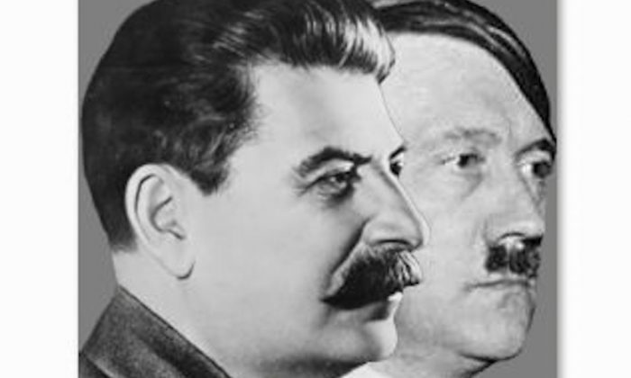 Joseph Stalin (L) and Adolf Hitler (R). Germany's move to invade the Soviet Union came at curious, fateful time. Was it coincidence or the realization of an old warlord's curse? (Wikimedia Commons)