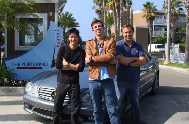 The Cannonball Run record time was broken by three friends from Atlanta, they say. (L-R) Dan Huang, Ed Bolian and Dave Black. (EdBolian.com)