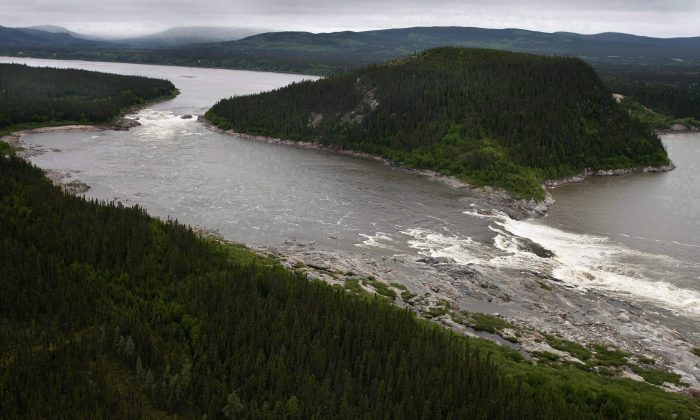 Muskrat Falls on the Churchill River in Labrador is shown in this Feb. 2011 file photo. With a federal loan guarantee, the province of Newfoundland and Labrador will obtain financing of $5 billion to build a hydroelectric project at this location. (The Canadian Press/Paul Daly)
