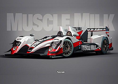 Artist's rendering of the Muscle Milk Pickett Racing Oreca 03 –Nissan (pickettracingteam.co)