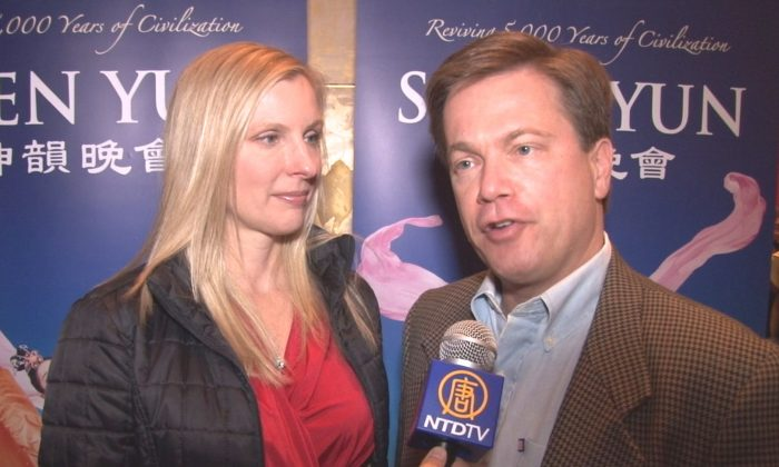 Judge Maria Golick and State Rep. Rich Golick  saw Shen Yun for the first time at the Cobb Energy Centre, on Dec. 27. (Courtesy of NTD Television)