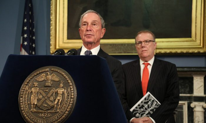Mayor Michael Bloomberg speaks at City Hall in New York on Dec. 12, 2013. (Spencer Tucker/Mayor's Office)