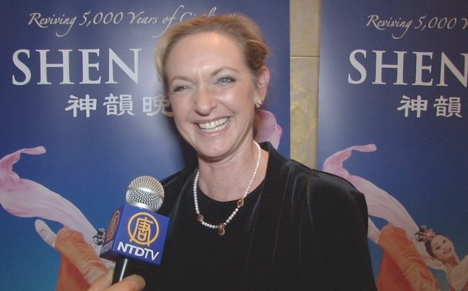 Ingrid Cooksey was stunned at the technical precision of Shen Yun's dancers at the Cobb Energy Centre in Atlanta, Dec. 28. (Courtesy of NTD Television)