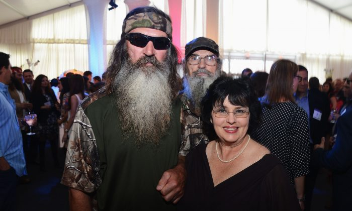 Phil Robertson, Si Robertson, and Miss Kay Robertson attend an A&E event in 2012 in New York City. (Jason Kempin/Getty Images for A&E Networks)