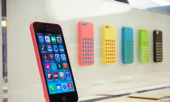 The iPhone 5c in a file photo. (Andrew Burton/Getty Images)