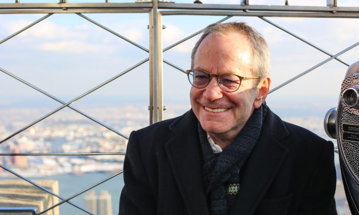 Lighting design expert Marc Brickman, on top of the Empire State Building on Dec. 18, 2013. (Benjamin Chasteen/Epoch Times)