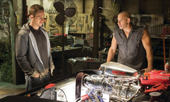 """Paul Walker, left, and Vin Diesel, in a scene from """"Fast & Furious."""" (AP Photo/Universal Pictures, Jaimie Trueblood)"""
