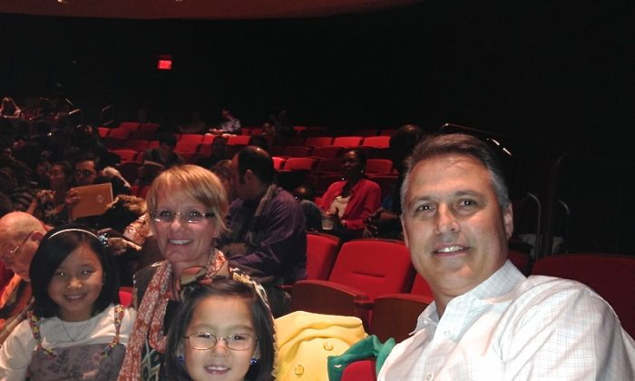Kent Sisler and his family were in attendance for Shen Yun Performing Arts at Atlanta's Cobb Energy Centre on Dec. 28. (Epoch Times)