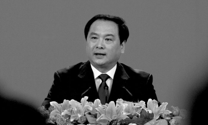 Li Dongsheng in the Great Hall of the People in Beijing on Oct. 14, 2007. (Frederic J. Brown/AFP/Getty Images)