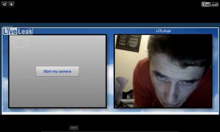 A LiveLeak screenshot shows the apparent suicide attempt.