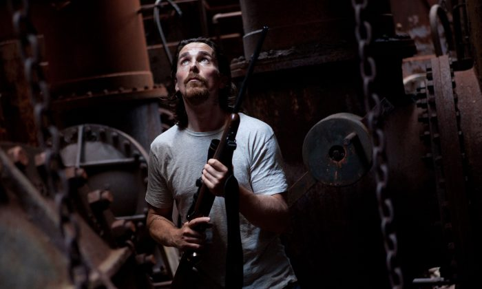 Christian Bale plays Russell Baze, who works in an Appalachian steel mill in 'Out of the Furnace.' (Kerry Hayes, 2012, Relativity Media)