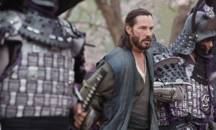 Keanu Reeves is not his best in the action-adventure '47 Ronin.' (Frank Connor/Universal Studios)