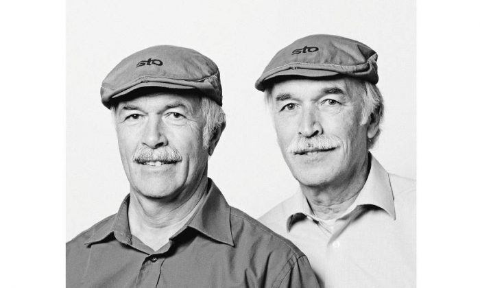 """Rudi Kistker and Maurus Oehmann: Rudi and Maurus are two cyclists living in Germany. While touring in the 2010 """"Tour de Ländle"""" along with a few thousand other cyclists they met each other and were amazed and amused by their likeliness. So were the other cyclists around them and most particularly their respective wives. They then became good friends. (François Brunelle)"""