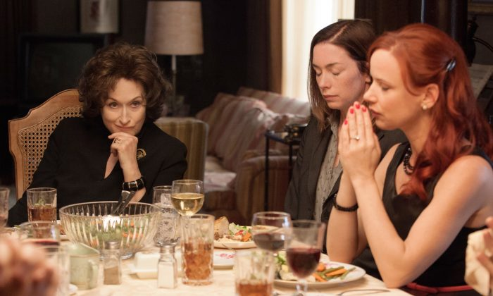 """Meryl Streep, and Julianne Nicholson, and Juliette Lewis star in """"August: Osage County."""" (Claire Folger/The Weinstein Company)"""