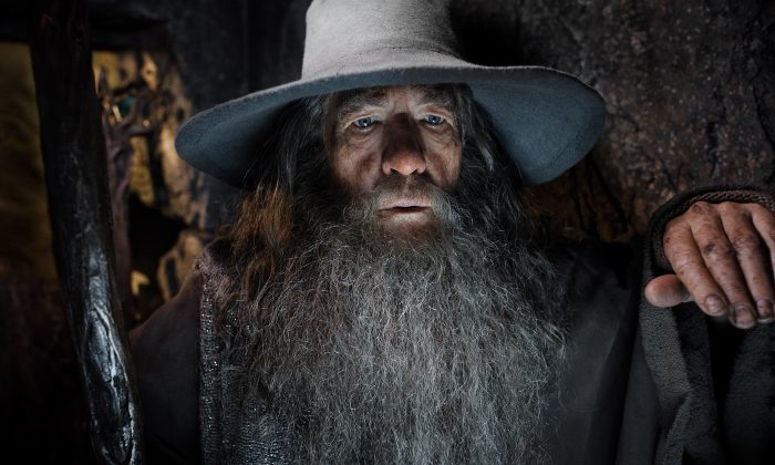 """Ian McKellen in a scene from """"The Hobbit: The Desolation of Smaug."""" (AP Photo/Warner Bros. Pictures, Mark Pokorny)"""