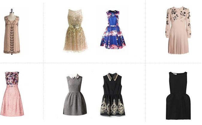 Tips for the perfect party dress. (Screenshot via fashiolista.com)