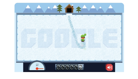 A game created by Google to celebrate the birthday of Frank Zamboni, the inventor of the ice resurfacing machine that bears his name. (Screenshot/Google.com)