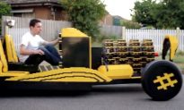 Air-Powered Life-Sized Lego Car Designed by Romanian Student Raul Oaida (+Video)