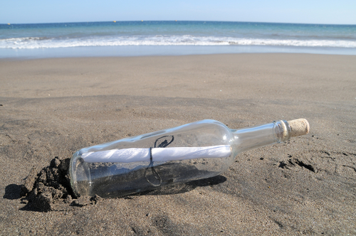 A file photo of a message in a bottle. A boy in Chile found a message in a bottle washed ashore in December, 2013, cast off by an Australian boy two years earlier. (Shutterstock*)