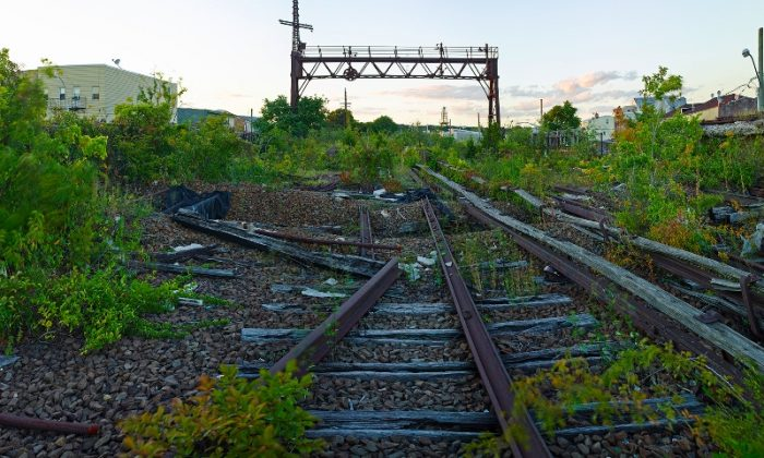 The abandoned LIRR Rockaway Beach Branch rails documented by photographer Jeff Chien-Hsing Liao for the QueensWay project summer 2013. (Jeff Chien-Hsing Liao)
