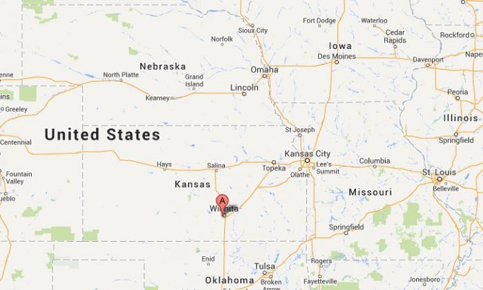 The location of the Wichita airport in Kansas