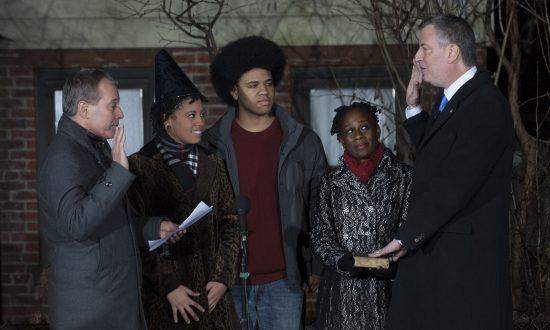 Bill de Blasio Sworn in as Mayor of New York City