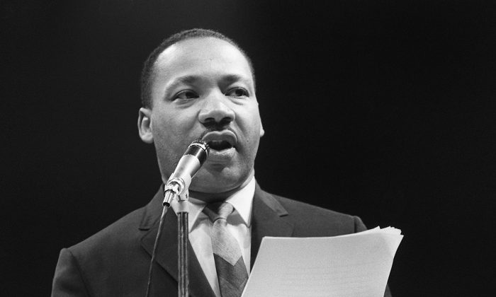 The U.S. clergyman and civil rights leader Martin Luther King Jr. speaks in March 1966. (AFP/GettyImages)
