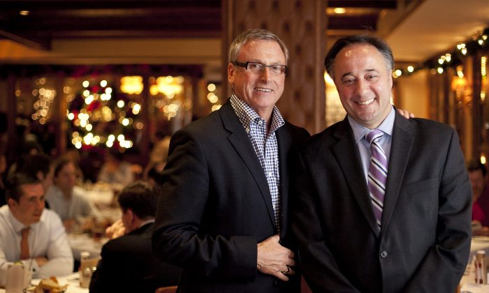 Bobby Van's co-owner Joseph Smith (L) and manager Lenny Passarelli. (Samira Bouaou/Epoch Times)