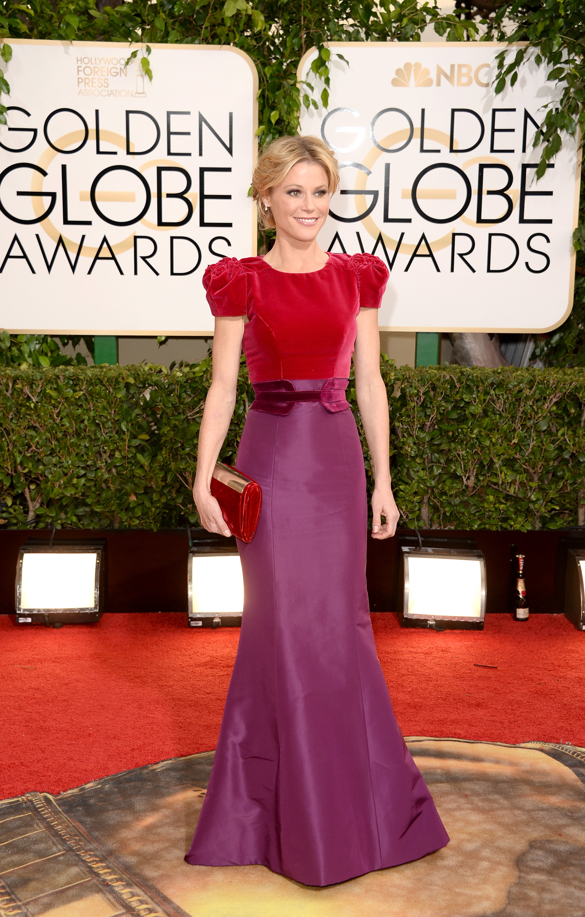 Purple And Red Work Surprisingly Well Together To Make Carolina Herrera S Dress Stand Out Among
