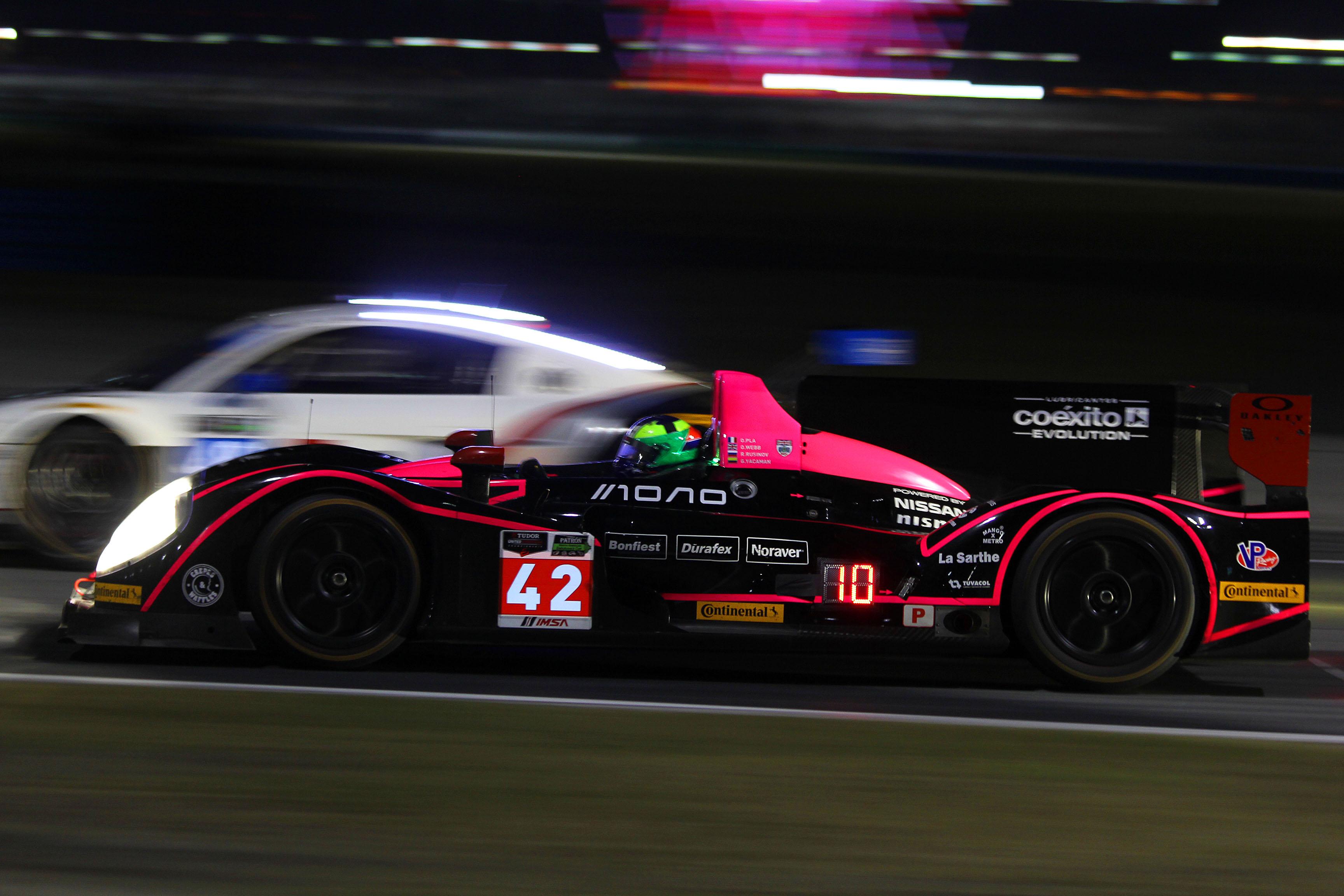 The performance of the Oak Racing Morgan-Nissan (front) proved that TUSC got the P2/DP balance right for Daytona. (Chris Jasurek/Epoch Times)