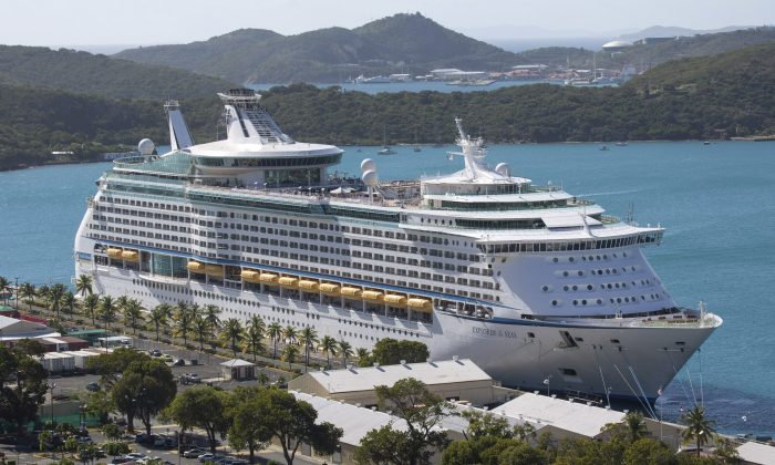 A stock photo shows a cruise ship (AP Photo/Thomas Layer)