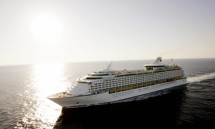 A stock photo shows a Royal Caribbean cruise ship. (Roberto Schmidt/AFP/Getty Images)