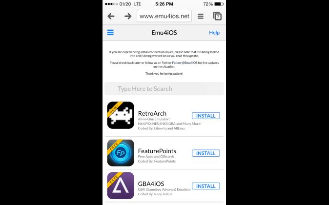 emu4ios.net and RetroArch