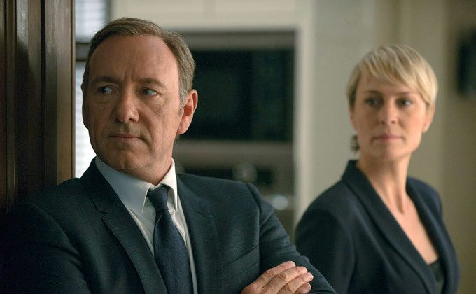 """Video still of Kevin Spacey on """"House of Cards."""" (Netflix)"""