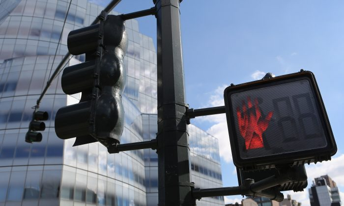 A Pedestrian Traffic Light In New York City, Oct. 18, 2012. The City Has  Been Pushing For Home Rule Regarding Traffic Cameras And Speed Limits, ...