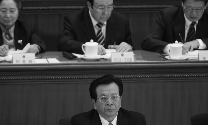 Zeng Qinghong, former vice president of China, attends the fourth plenary session of the National Peoples Congress in March 2007, in Beijing, China. Zeng is said to be the next target for a corruption probe. (Andrew Wong/Getty Images)