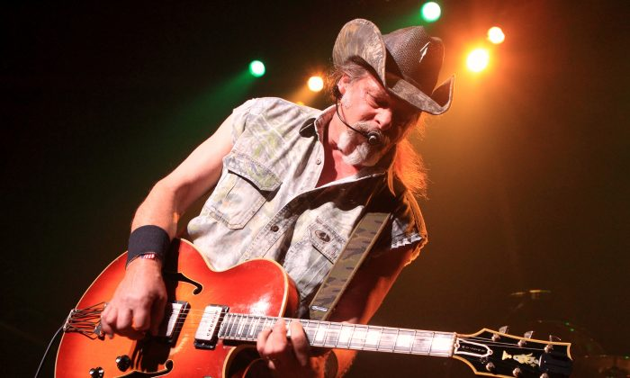Ted Nugent, brother of Jeff Nugent, performing at Rams Head Live in Baltimore in a 2010 file photo. Jeff condemned Ted's recent comments about President Obama. (Owen Sweeney/Invision/AP, File)
