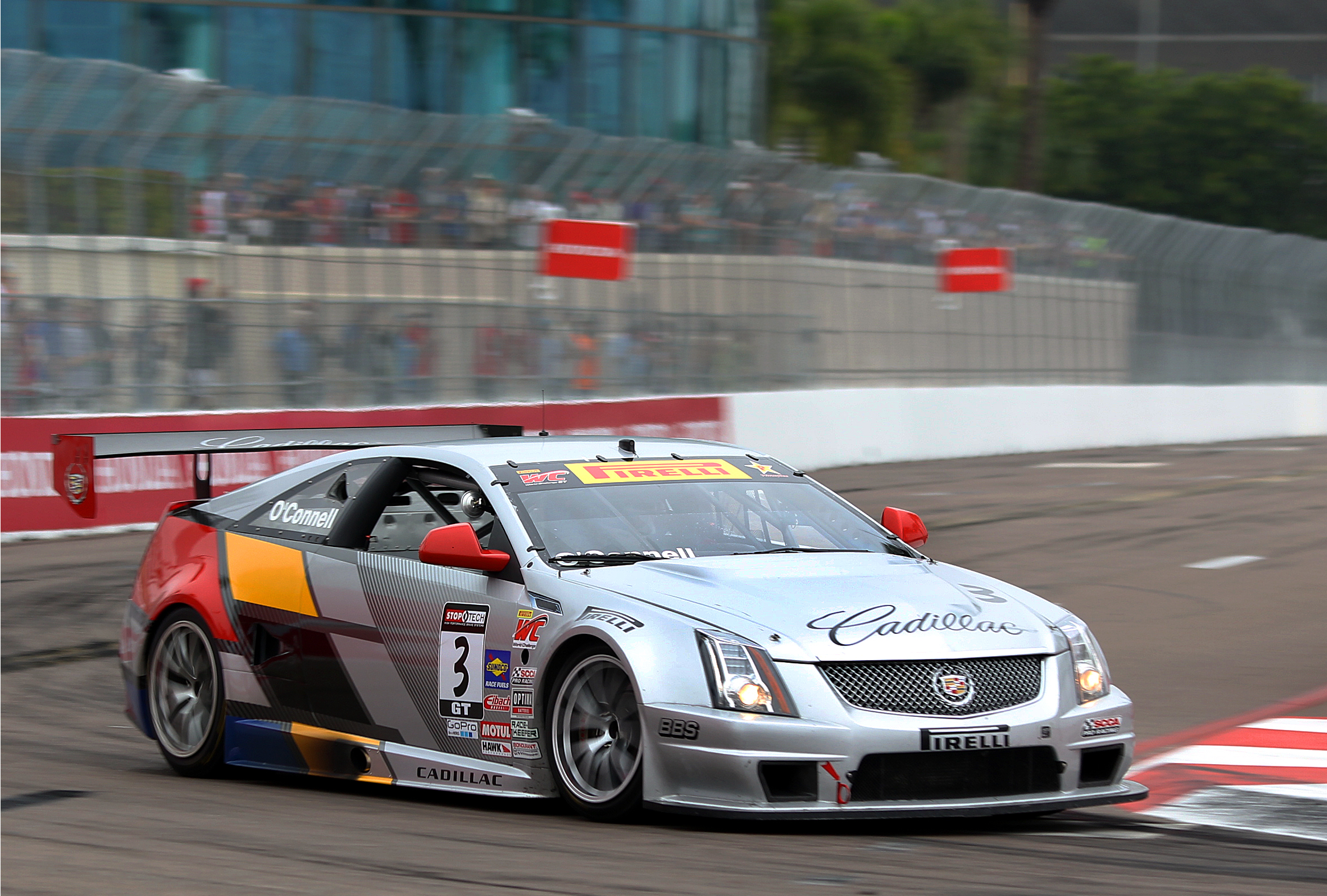 2013 Pirelli World Challenge GT champion Johnny O'Connell will be back in his Cadillac CTS-V.R, battling the world's top sports car racers for the win at St. Pete. (Chris Jasurek/Epoch Times)