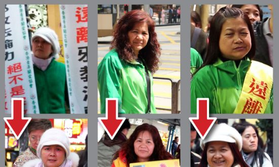 Hong Kong's Leader Has Cronies on the Streets in Disguise Defaming Falun Gong