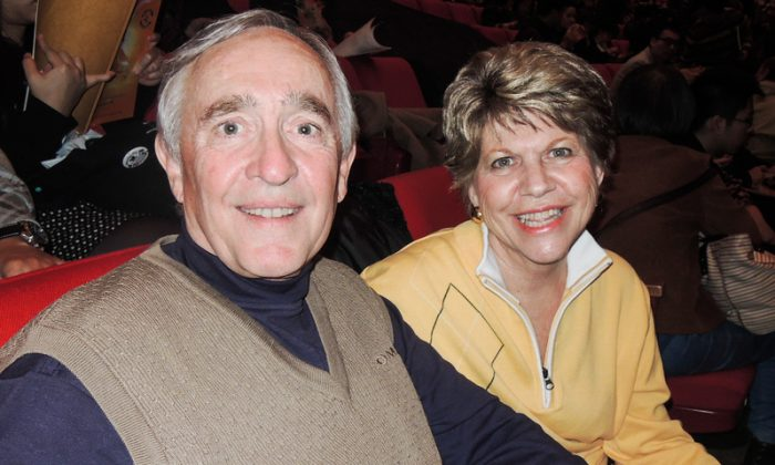 Rodney Winther enjoyed Shen Yun Performing Arts, with his wife, in Taipei. (Li Yun/Epoch Times)