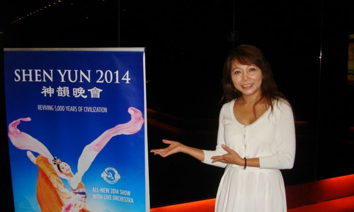 Prominent member of the Melbourne Vietnamese community Thuy Dang says Shen Yun Performing Arts offered hope to her people, when the music and dance company debuted at the Arts Centre's State Theatre, March 27. (Tracy Fan/Epoch Times)