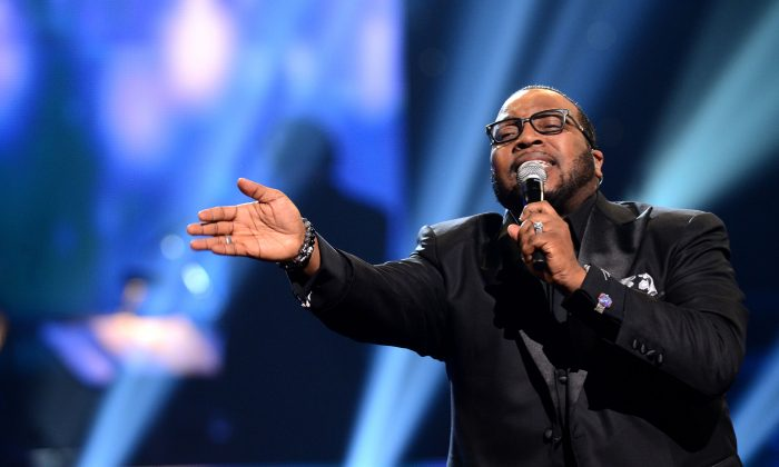 Marvin Sapp performs on the 28th Annual Stellar Awards Show at Grand Ole Opry House on January 19, 2013 in Nashville, Tennessee. (Photo by Rick Diamond/Getty Images for The Stellar Awards)