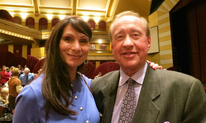 Krin Kramer and Dr. John Kelly enjoy an evening at Shen Yun Performing Arts at the Milwaukee Theatre on March 5. (Stacey Tang/Epoch Times)