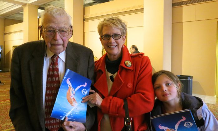 Omaha's retired Impresario, Dick Walter, enjoyed Shen Yun Performing Arts with his family. (Stacey Tang/Epoch Times)