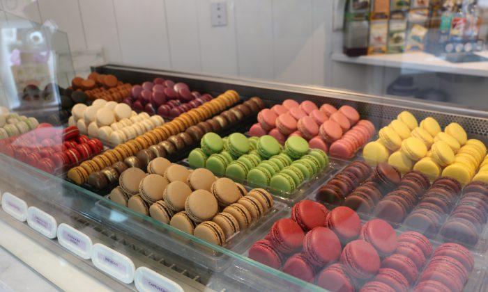 Macarons at Sugar and Plumm Bakery, in Manhattan, New York, March 19, 2014. (Holly Kellum)