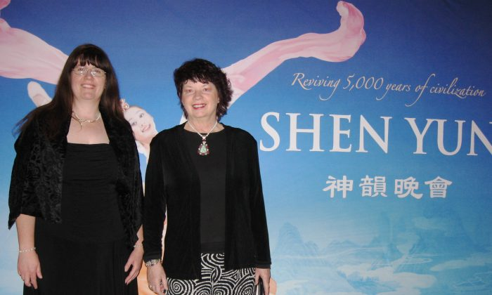 Dance instructors Karen [R] and Donna [L] House were impressed with Shen Yun's performance and dancers. (Cat Rooney/Epoch Times)
