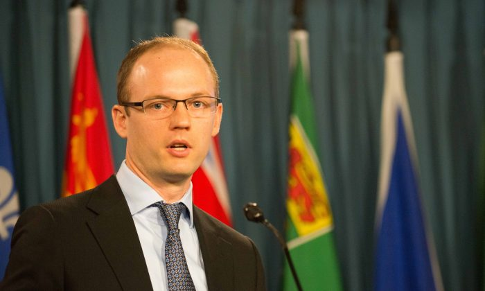 Trevor Tombe, an economics professor at the University of Calgary, says Canada needs good data and debate free of emotional rhetoric if it is to develop strong policies for energy exports. (Matthew Little/Epoch Times)