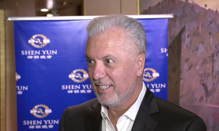 George Donikian enjoys Shen Yun Performing Arts at Melbourne's State Theatre, on March 28. (Courtesy of NTD Television)