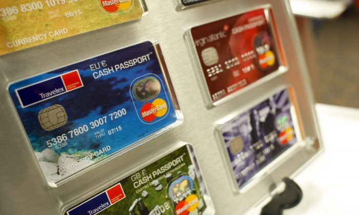Different MasterCards at the Sentry Center in New York, Sept. 15, 2011 (Brian Ach/Getty Images for MasterCard)