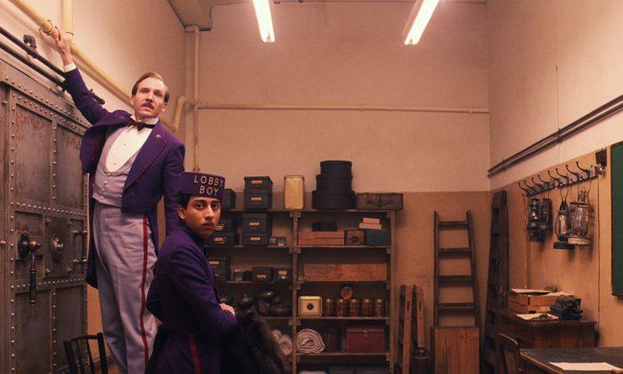 "Ralph Fiennes (L) and Tony Revolori (R) in ""The Grand Budapest Hotel."" (AP Photo/Fox Searchlight)"